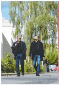 Lasse Vretblad och Anders Bergkrantz på Halmstadsvägen i Björkhagen.